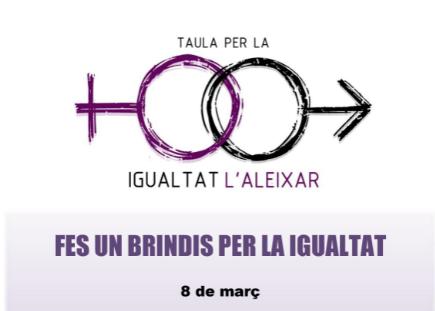 Cartell anunciador de l'acte commemoratiu del dia 8 de Març de 2020 a l'Aleixar